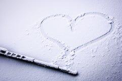 Corazón congelado Fotografía de archivo