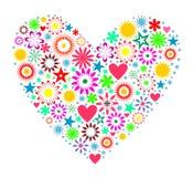 Corazón. Conjunto de elementos del diseño. ilustración del vector