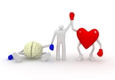 Corazón contra mente. imagenes de archivo