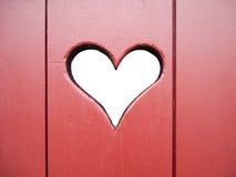 Corazón cortado Imagen de archivo libre de regalías