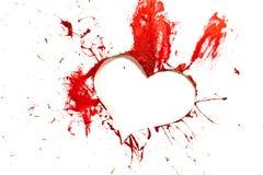 Corazón cortado del color rojo Foto de archivo