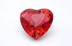 Corazón cristalino rojo Imagenes de archivo