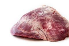 Corazón crudo de la carne de vaca - carne Fotos de archivo