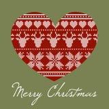 Corazón cruzado de la puntada Foto de archivo libre de regalías