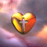 Corazón cruzado santo stock de ilustración