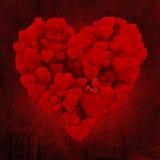 corazón 3d hecho de corazones Imagen de archivo libre de regalías