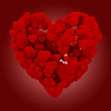 corazón 3d hecho de corazones Foto de archivo libre de regalías