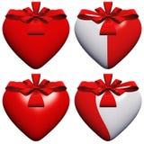 Corazón de alta resolución 3D con una cinta Imagen de archivo
