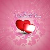 Corazón en fondo rosado Imagen de archivo libre de regalías