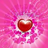 corazón en fondo rosado Fotografía de archivo libre de regalías
