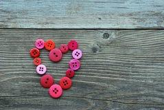 Corazón de botones Fotografía de archivo libre de regalías