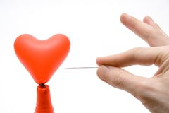 Corazón de Brokenned foto de archivo libre de regalías