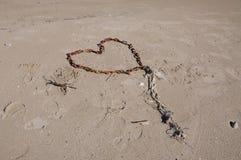Corazón de cadena Imágenes de archivo libres de regalías