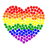 Corazón de Colorfull de pequeños corazones Fotos de archivo
