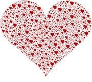 Corazón de corazones Foto de archivo libre de regalías