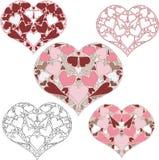 Corazón de corazones Imágenes de archivo libres de regalías