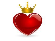 Corazón de cristal Imágenes de archivo libres de regalías