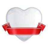 Corazón de cristal claro con la cinta roja libre illustration