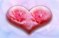 Corazón de cristal grande Foto de archivo libre de regalías