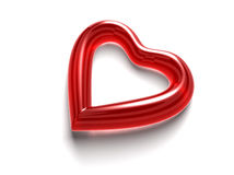 Corazón de cristal rojo Foto de archivo
