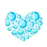 Corazón de diamantes Fotos de archivo libres de regalías