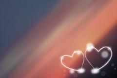 Corazón de dos amores Fotografía de archivo libre de regalías