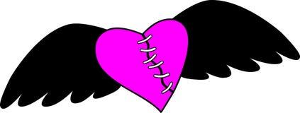 Corazón de Emo ilustración del vector