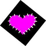 Corazón de Emo stock de ilustración