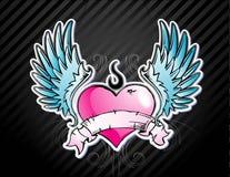 Corazón de Emo del tatuaje Imagen de archivo
