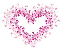 Corazón de encaje stock de ilustración