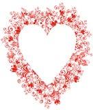 Corazón de encaje Fotografía de archivo