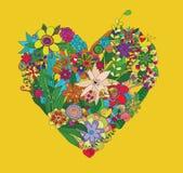 Corazón de flores Imágenes de archivo libres de regalías