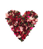 Corazón de flores Fotos de archivo