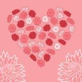 Corazón de flores Foto de archivo libre de regalías