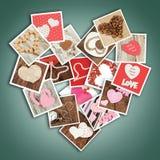 Corazón de fotos Foto de archivo