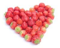 Corazón de fresas Imagenes de archivo