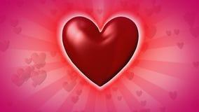 Corazón de giro gigante del cgi ilustración del vector
