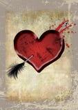 Corazón de Grunge Fotografía de archivo