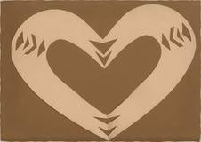 Corazón de Grunge Imagenes de archivo