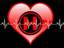 Corazón de Healty Fotografía de archivo