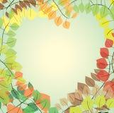 Corazón de hojas Imagenes de archivo