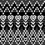 Corazón de Ikat Imágenes de archivo libres de regalías