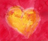 Corazón de la acuarela Fotografía de archivo libre de regalías
