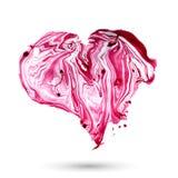 Corazón de la acuarela del vector Elemento dibujado mano para Fotografía de archivo