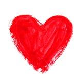 Corazón de la acuarela Elementos para el diseño fotografía de archivo libre de regalías