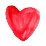 Corazón de la acuarela en un fondo blanco imagenes de archivo