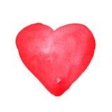 Corazón de la acuarela Mano drenada imagen de archivo libre de regalías