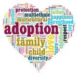 Corazón de la adopción Foto de archivo libre de regalías