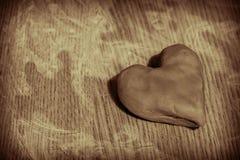 Corazón de la arcilla Imagen de archivo libre de regalías