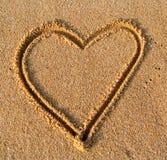 Corazón de la arena Fotografía de archivo libre de regalías